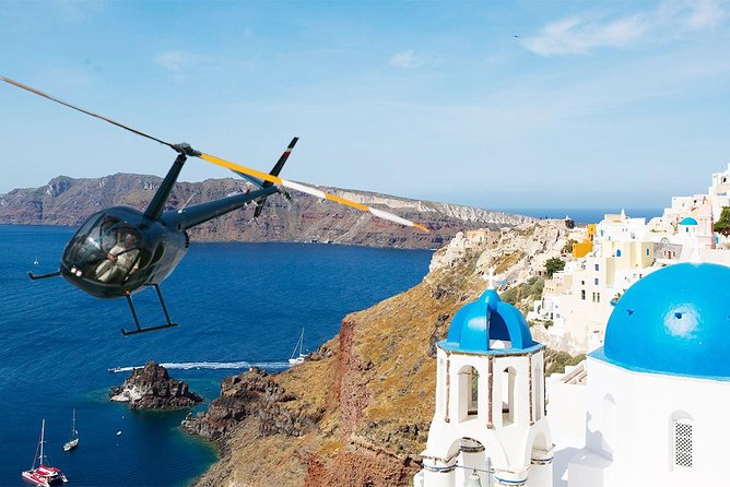 santorini helicopter ride