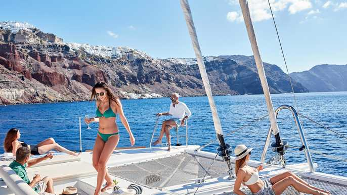 santorini catamaran tour